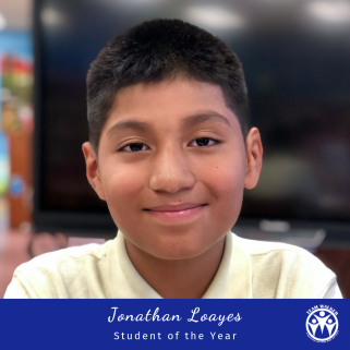 Student of the Year Jonathan Loayes EoD Honoree